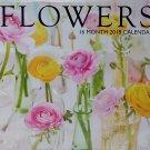 Flores / Flowers Bilingual 16 month 2018 Calendar