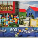 Puzzlebug Vibrant Colored 500PC Jigsaw Puzzle 2Pack