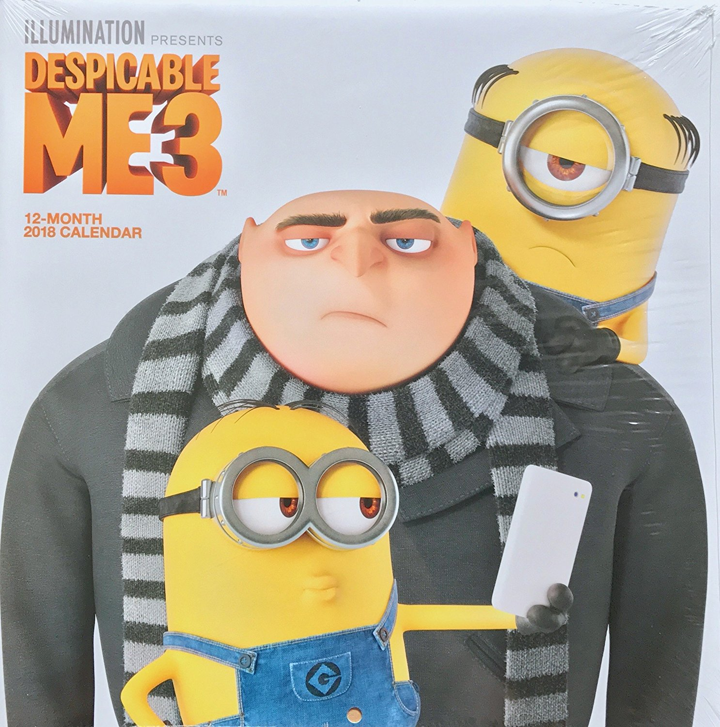 Despicable Me Minions 3 2018 Calendar Kids Room Decor