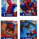Spiderman Homecoming 4 Piece Bundle Puzzle Set (100 Piece Each)