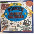 "Robots Coloring 16 months 2018 Calendar 11"" x 12 Product Name """