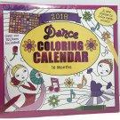 "Dance Coloring 16 month 2018 Calendar 11"" x 12"""