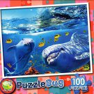 Playful Dolphins - PuzzleBug - 100 Piece Jigsaw Puzzle