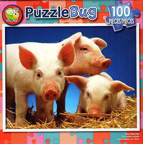 Tree Little Pigs - PuzzleBug - 100 Piece Jigsaw Puzzle