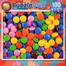 Colorful Chocolate Candy Buttons - PuzzleBug - 100 Piece Jigsaw Puzzle