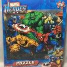 "Marvel Heroes Puzzle - 100 Pieces - 10"" X 9 "" - Captain America, Hulk, Wolverine, Spider-Man"