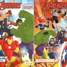 Marvel Avengers Jumbo Coloring and Activity Book - Assemble + Defenders of Earth (Set of 2 Books)