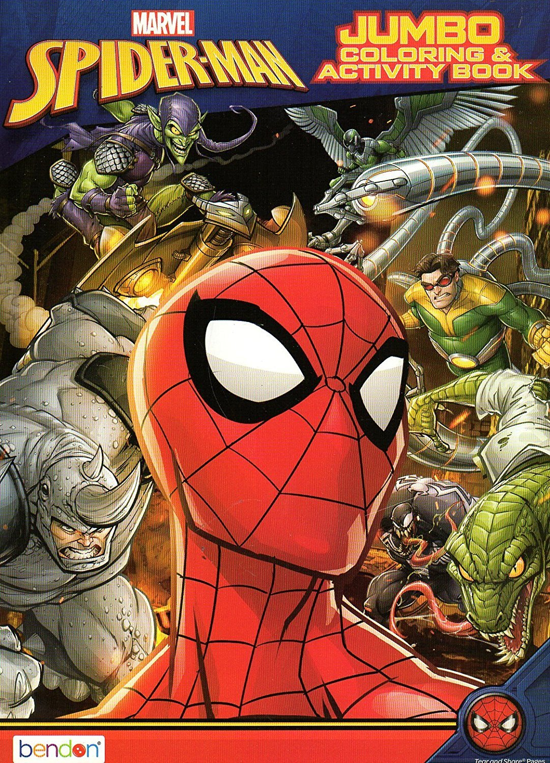 Marvel Spider-Man Jumbo Coloring and Activity Book - v3