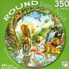 Jungle Lake - 350 Piece Round Jigsaw Art Puzzle