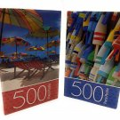 Colorful Summer Day 500 pc. Puzzles ~ Pack of 2