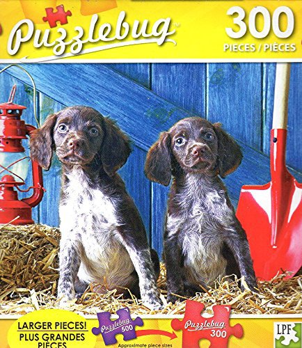 Cute Puppies in a Barn - 300 Pieces Jigsaw Puzzle - Puzzlebug - p 003