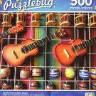 Puzzlebug 500 - Colorful Mexican Guitar Display