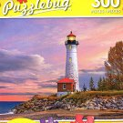 Sunset at Crisp Point Lighthouse, Lake Superior, Michigan - 300 Large Pieces Jigsaw Puzzle - p 004