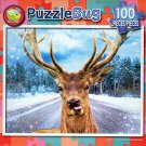 Deer on a Road - PuzzleBug - 100 Piece Jigsaw Puzzle