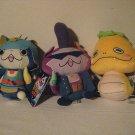 Assorted Yo-kai Watch Plush Figures Includes: Noko, Baddinyan & Shogunyan (3 pack)