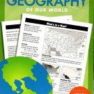 Geography - Worksheets Workbook - Grades 4 - 6