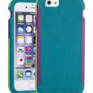 Impact Gel iPhone 6 Shock Resistant Teal Cell Phone Case