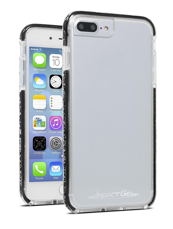 Impact Gel Apple Iphone 8+/7+/6s+ Crusader Lite Case Clear & Black