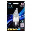 Feit EFC/DM/300/5K/LED 40W Equivalent Daylight Medium Base Flame Tip Chandelier LED Light