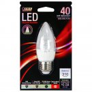 Feit ETC/DM/300/LED 40W Equivalent Medium Base Torpedo Tip Chandelier LED Light, Soft White