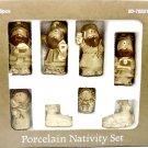 Porcelain Nativity Set 8 Pieces