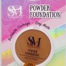Smoke & Mirrors Powder Foundation, Matte Finish, Dark Brown