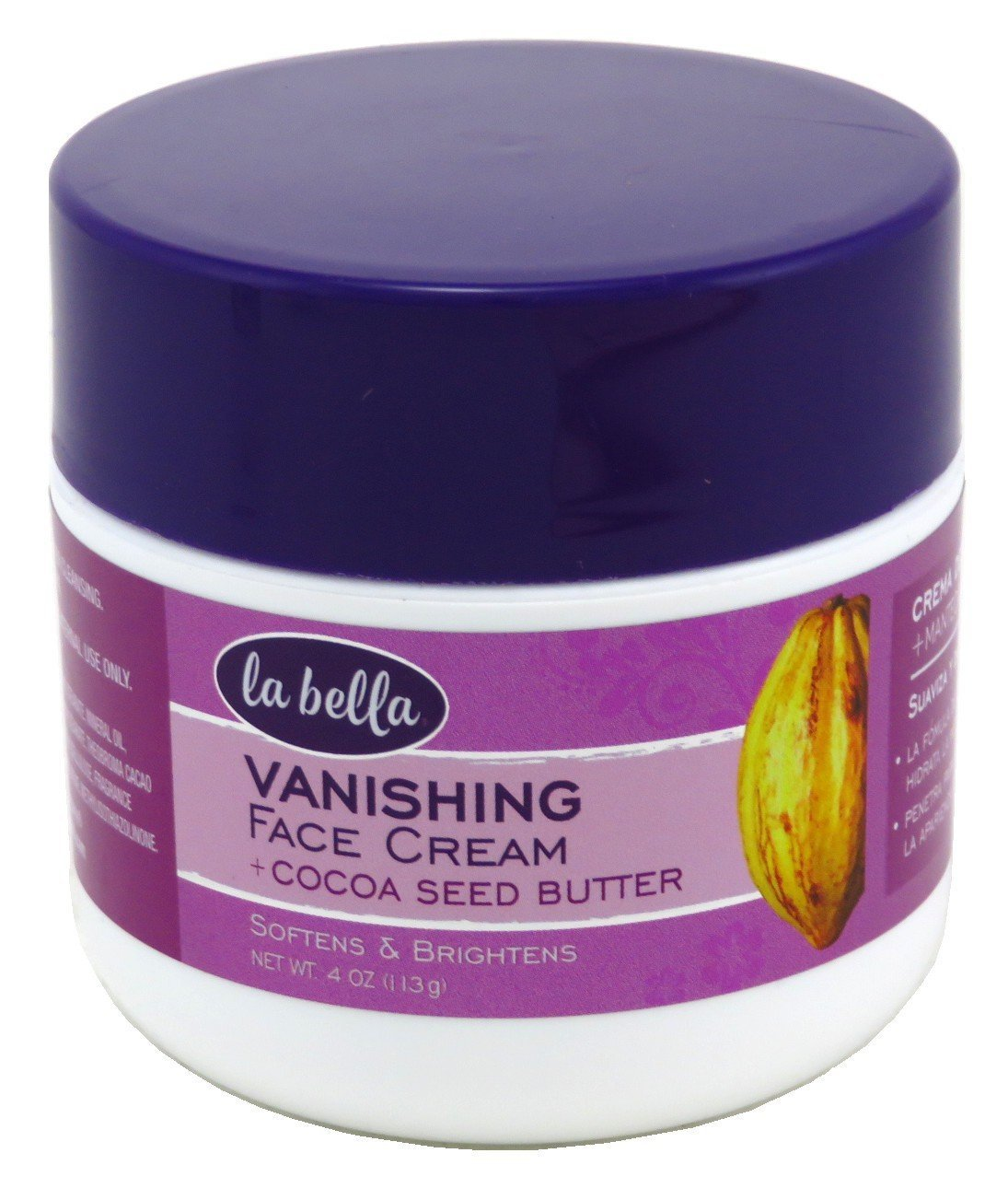 La Bella Vanishing Cocoa Seed Butter 4 oz (Pack of 2)