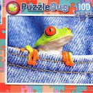Red-eyed Tree Frog in Jeans - PuzzleBug - 100 Piece Jigsaw Puzzle
