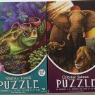 Bundle of 2 Wildlife 500 Piece Jigsaw Puzzles: Majestic Turtle ~ Celestial Sahara.