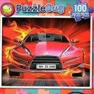 Fire Car - PuzzleBug - 100 Piece Jigsaw Puzzle