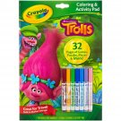 Color and Activity Book w Markers, Trolls