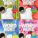Large Print Word Hunt - All New Puzzles Books - 2018 Vol. 49 - 52 (4-Pack)