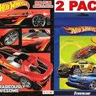 Hot Wheels Big Fun Book to Color + Hot Wheels Sticker Book 284 Sticker (2 Pack)