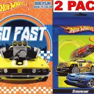 Hot Wheels - So Fast - Big Fun Book to Color + Hot Wheels Sticker Book 284 Sticker (2 Pack)