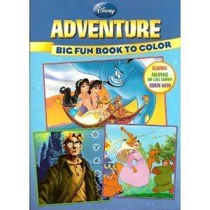 Disney Adventure Big Fun Book to Color