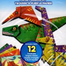 Beginners Origami Paper Folding Kit - YouTube Ready Video Instructions - Dinosaurs Craze