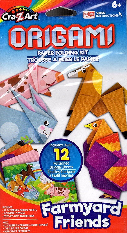 Beginners Origami Paper Folding Kit - YouTube Ready Video Instructions - Farmyard Friends