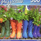 Colorful Garden Boot Planters - 500 Piece Jigsaw Puzzle - Puzzlebug - p 004