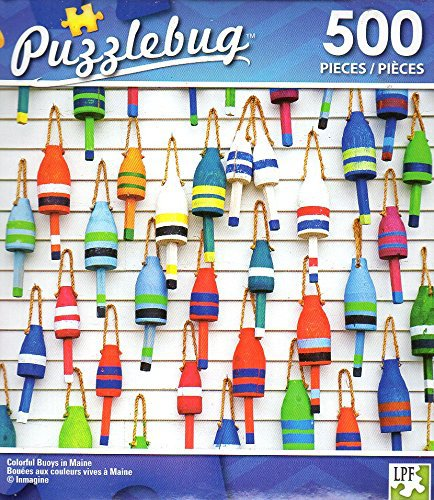 Colorful Buoys in Maine - 500 Piece Jigsaw Puzzle - Puzzlebug - p 004
