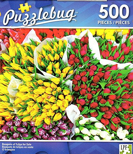 Bouquets of Tulips for Sale - 500 Piece Jigsaw Puzzle - Puzzlebug - p 004