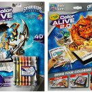 Crayola Color Alive Skylanders Interactive Action Coloring Pages – Combo Pack