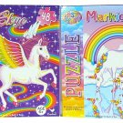 Lisa Frank 48 pc Jigsaw Puzzle Bundle - 2 Boxes Markie and Skye