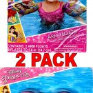 What Kids Want Disney Princess Swim Goggles & Arm Floats - Includes Repair Kit, (2 Pack)