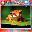 Yellow Madagascar Tree Frog - 100 Piece Jigsaw Puzzle