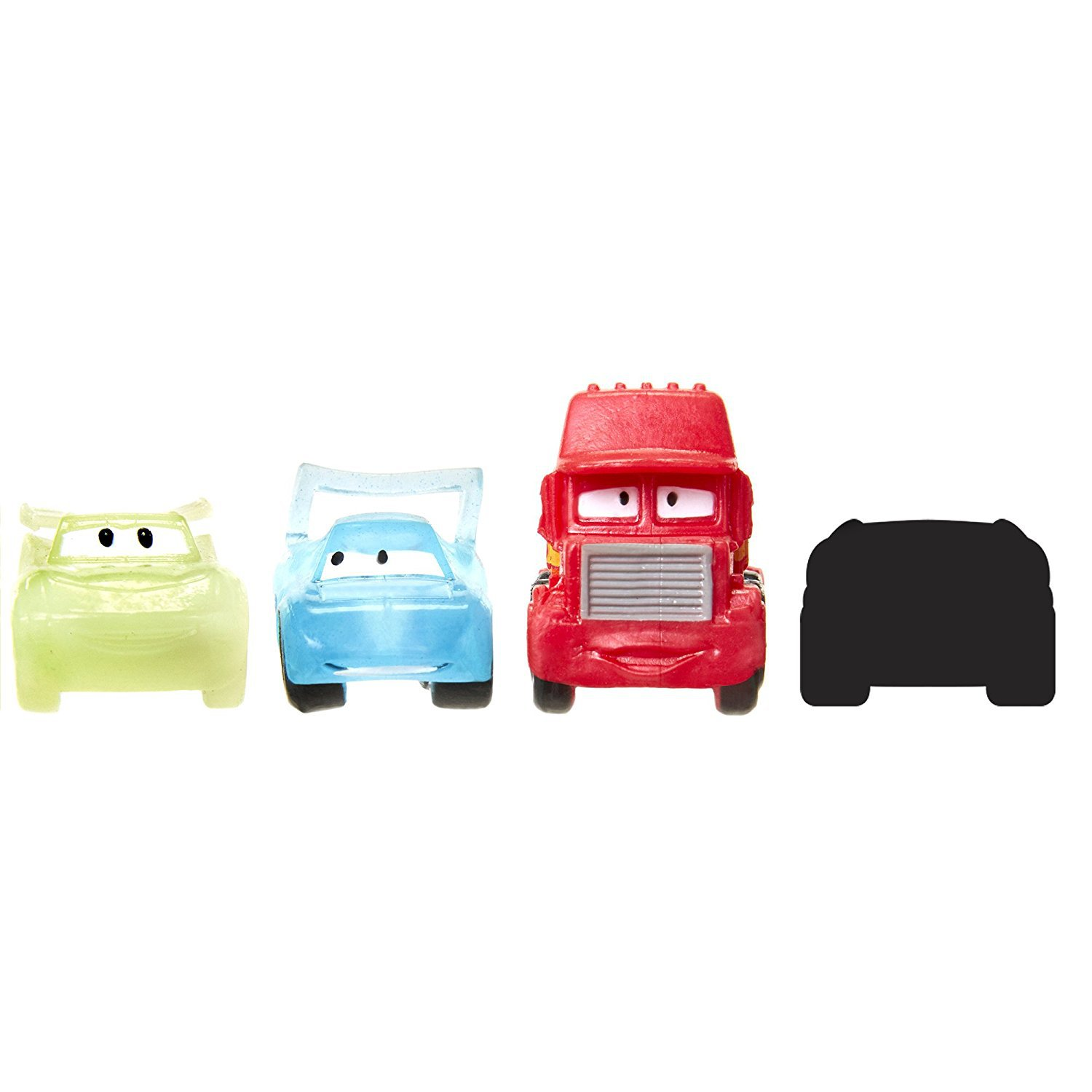 "Ooshies Set 4 Disney Cars 3 Series 1"" Action Figure (4 Pack) Pencil Toppers"