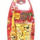 3pcs Emoji Toothbrush Cap & Rinsing Cup Set