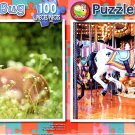 Foal in the Flowers -  Old French Carousel - 100 Piece Jigsaw Puzzle SET of 2