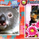 Cute Koala Bear -  Cute Yorkshire Terrier - 100 Piece Jigsaw Puzzle SET of 2