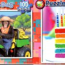 Chimp Tractor  -  Rainbow Cake - 100 Piece Jigsaw Puzzle SET of 2