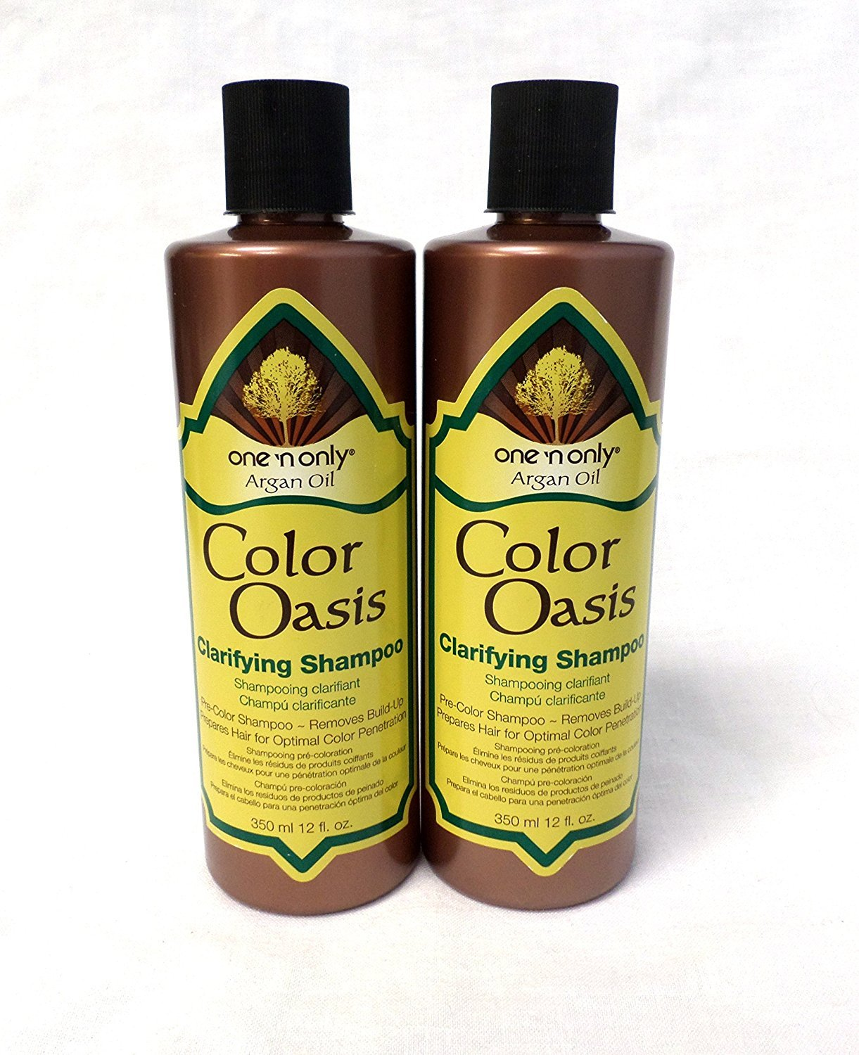 One N Only Argan Oil Shampoo Color Oasis Clarifying 12oz (2 Pack)